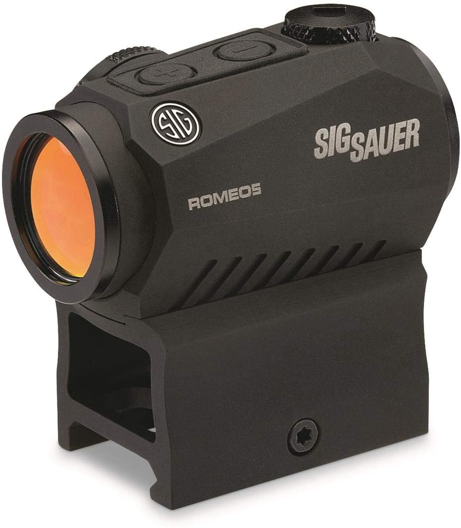 Sig Sauer Romeo5, 1x20mm Compact 2 MOA Red Dot Sight, Black