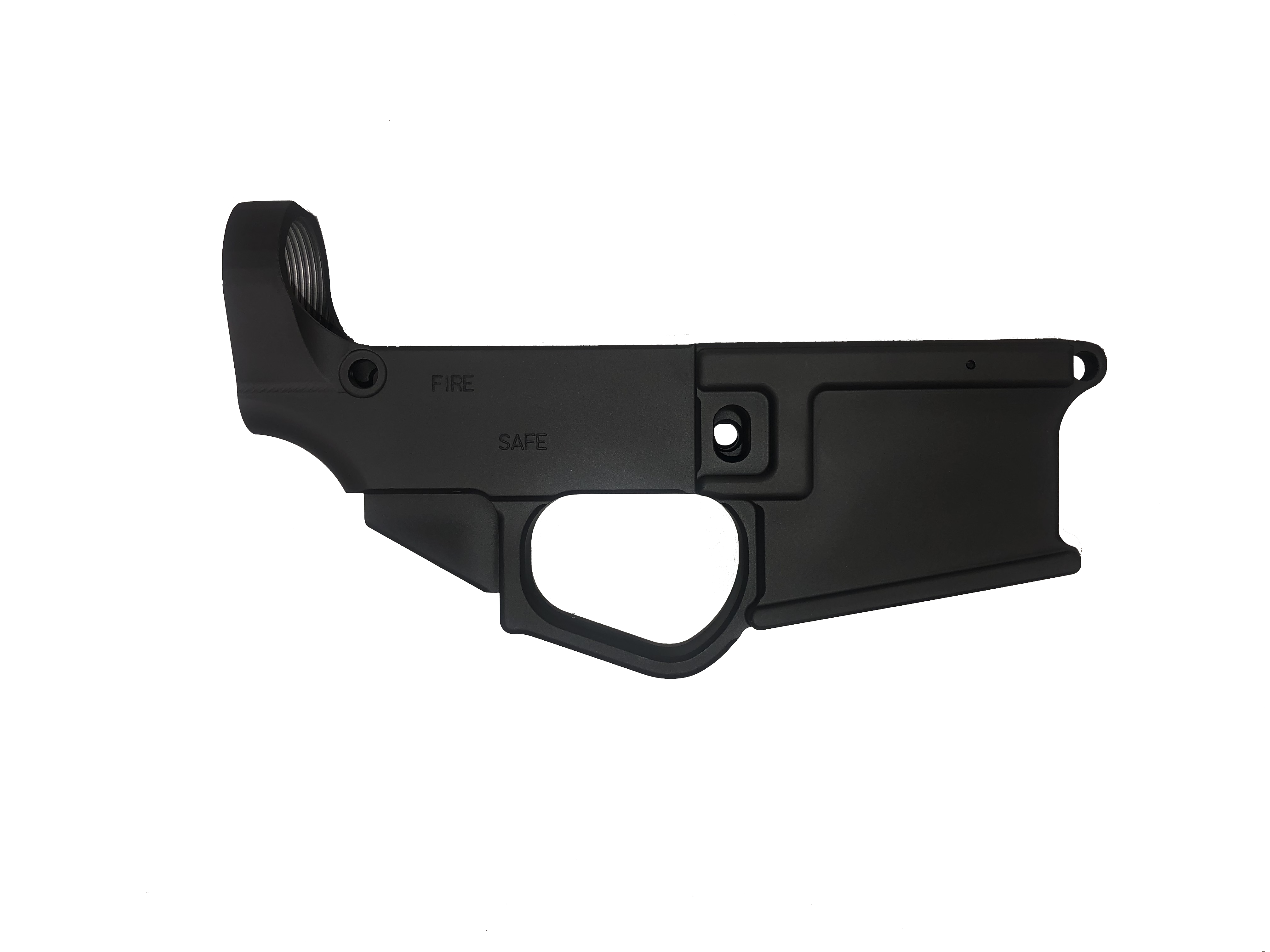 Wise Arms Billet 80% AR-15 Lower Receiver - Hard Anodized black/Cerakote Armorer black